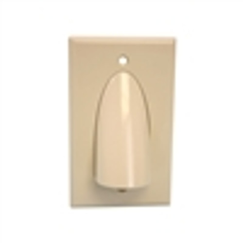 WALL PLATE; POLISHED SINGLE-GANG;  FOR BULK CABLE ; IVORY (VHT-8104)