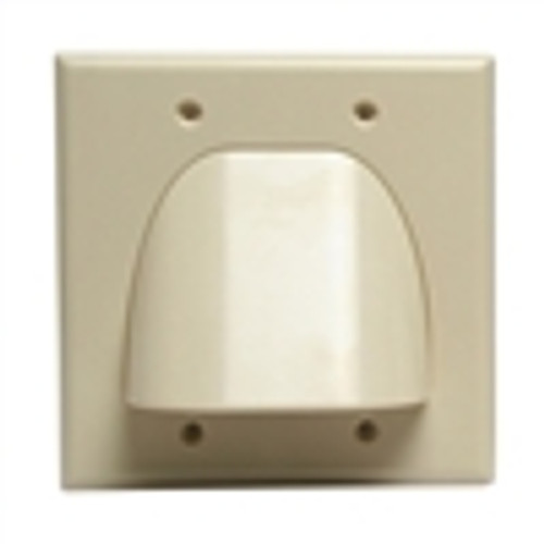 Wall Plate; Polished Dual Gang for Bulk Cable - Almond (VHT-8202)