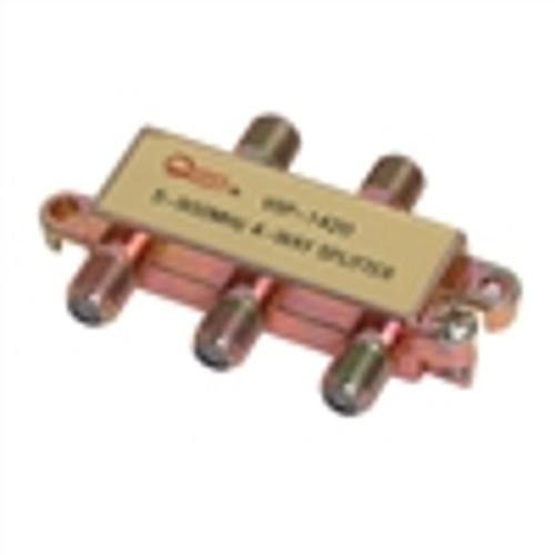 CATV Splitter; 4-Way; Horizontal; 900MHZ (VSP-1420)