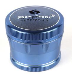 """SharpStone 4-Piece V2 Grinder Pollinator Colored 2.2"""" - Blue"""