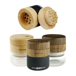 RYOT Wood GR8TR w/ Clear Jar Body and Walnut Top