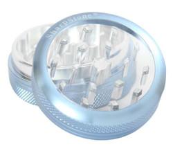 "SharpStone 2-Piece Grinder Glass Top Colored 2.5"" - Blue"
