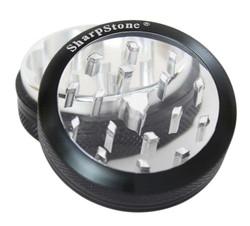 "SharpStone 2-Piece Grinder Glass Top Colored 2.5"" - Black"