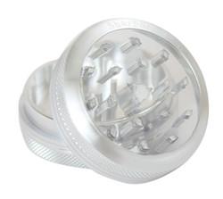 """SharpStone 2-Piece Grinder Glass Top 2.5"""" – Silver"""