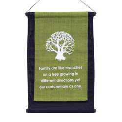 "10.5"" x 16"" Banner - Family are Like Branches"