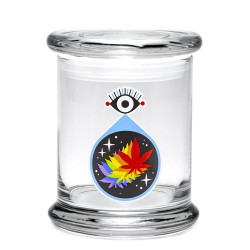 420 Science Pop Top Jar Large - All Seeing Leaf
