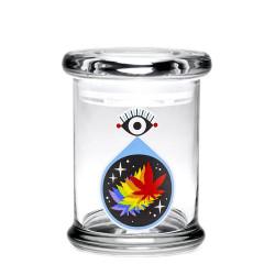 420 Science Pop Top Jar Medium - All Seeing Eye-1
