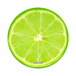 "DabPadz 5"" Round Fabric Top 1/4"" Thick - Lime"