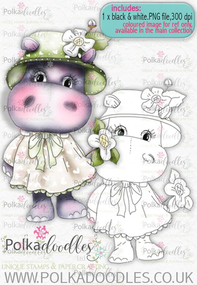 Helga Hippo Flower Girl