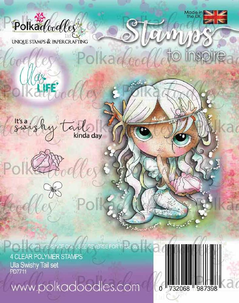 New Polkadoodles  Clear Stamp Set Ula Swishy Tail