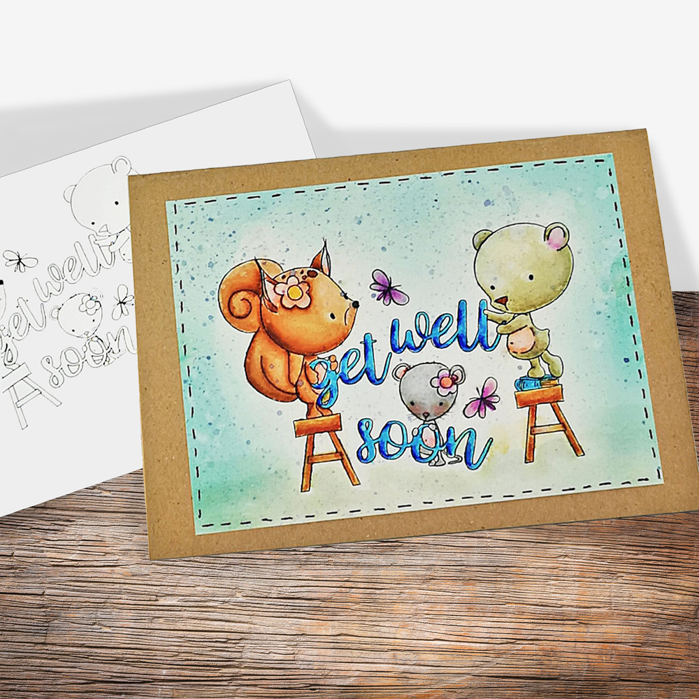 This is an image of Get Well Soon Printable with friend
