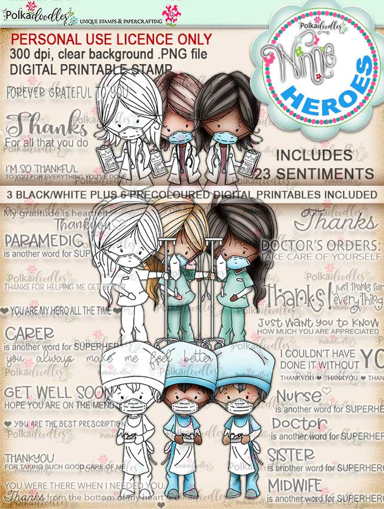 Free NHS Heroes Digi Stamp Set