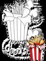Fried Chicken Digital Stamp - Printable Crafting Digital Stamp Craft Scrapbooking Download