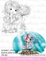 Meribelle Swishy Tail - digital craft stamp download