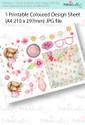 Windswept Winnie Hang onto Your Hat Coloured Card making Design Sheet - Winnie Special Moments...Craft printable download digital stamps/digi scrap kit