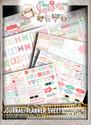 Journal/Planner pages - Lil Miss Sugarpops Kit 1...Craft printable download digital stamps/digi scrap kit