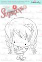 An Apple A Day/Teacher/School digi stamp - Lil Miss Sugarpops 3...Craft printable download digital stamps/digi scrap