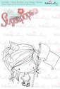 Flying the Flag digi stamp - Lil Miss Sugarpops 3...Craft printable download digital stamps/digi scrap