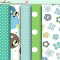Apple Lagoon - digiscrap kit papers