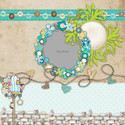 Apple Lagoon - digiscrap kit layout