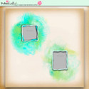Apple Lagoon - digiscrap kit frames