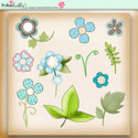 Apple Lagoon - digiscrap kit foliage