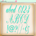 Apple Lagoon - digiscrap kit alphabet