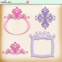 Berry Crush Digi Scrap Kit - frames, flourishes