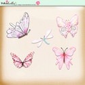 Berry Crush Digi Scrap Kit - butterflies