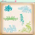 Summer Breeze - digiscrap printable download flourishes