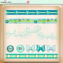 Summer Breeze - digiscrap borders, buttons, bows  printable download