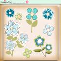 Summer Breeze - digiscrap printable download flowers