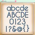 Summer Breeze - digiscrap printable download alphabet