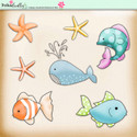 Lemon Top Digi Scrap Kit - ocean, sea, whale, fish