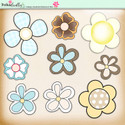Lemon Top Digi Scrap Kit - flowers, foliage