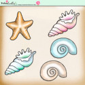 Lemon Top Digi Scrap Kit - seaside, shells, starfish