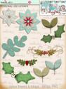 70+ Printable Embellishments - Winnie White Christmas...Craft printable download digital stamps/digi scrap