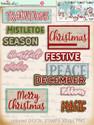 30+ Printable Christmas Word Art Embellishments - Winnie White Christmas...Craft printable download digital stamps/digi scrap