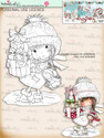 Christmas Shopping - Digital Stamp download. Winnie White Christmas printables.Craft printable download digital stamps/digi scrap
