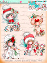 Winnie White Christmas Big Kahuna download including printable Winnie precoloured digital stamps for crafting, card making and paper crafting - use with a digital cutting  machine such as the Silhouette Cameo or Brother Scan and Cut