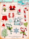 Winnie White Christmas Big Kahuna download including printable embellishments - use with a digital cutting  machine such as the Silhouette Cameo or Brother Scan and Cut