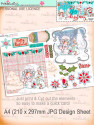 Winnie White Christmas Big Kahuna download including printable Design sheets to make crafting easy