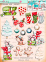 Winnie White Christmas BIG KAHUNA DOWNLOAD KIT - digital printables