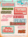 Winnie White Christmas Big Kahuna download including printable designer Word Art greetings