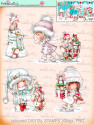 Winnie White Christmas printable Winnie precoloured digital stamps for crafting, card making and paper crafting - use with a digital cutting  machine such as the Silhouette Cameo or Brother Scan and Cut
