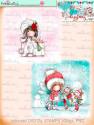 Winnie White Christmas printable Winnie Coloured Toppers