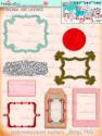Winnie White Christmas printable frames and tags