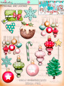 Winnie White Christmas printable embellishments - use with a digital cutting  machine such as the Silhouette Cameo or Brother Scan and Cut