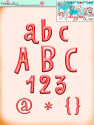Winnie White Christmas printable designer alphabet and numbers