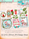 Winnie White Christmas printable Design sheets to make crafting easy